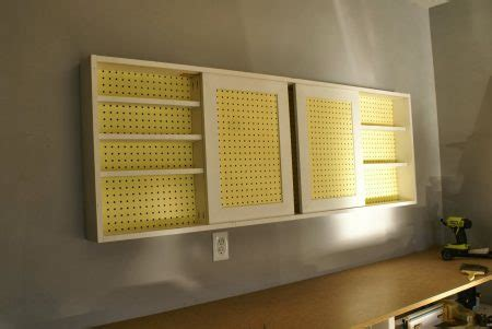 remodelaholic build  organized pegboard tool cabinet