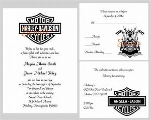 100 personalized custom harley davidson motorcycle bridal for Harley davidson wedding invitations free