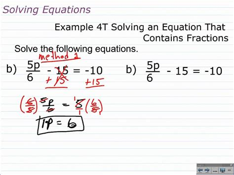 solve multi step equations  fractions
