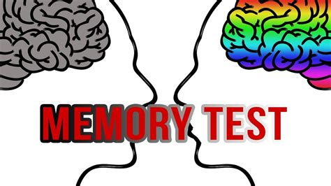 memory test memory test how is your memory