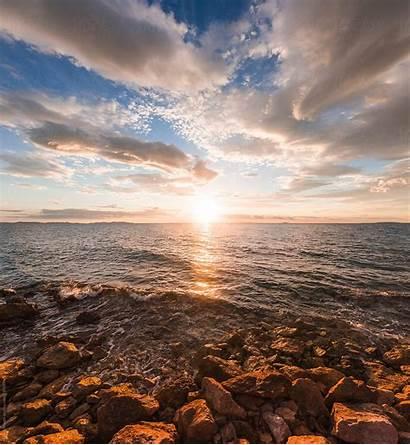 Scenery Sunset Seaside Rana Stocksy Sunrise Rg