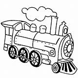 Train Steam Coloring Locomotive Engine Drawing Pages Line Outline Simple Netart Template Clip Clipart Sketch Getdrawings sketch template