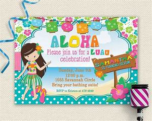20+ Luau Birthday Invitations Designs Birthday Party