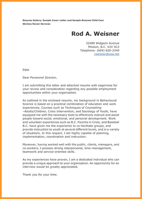 how to write a cover letter sles sop exle