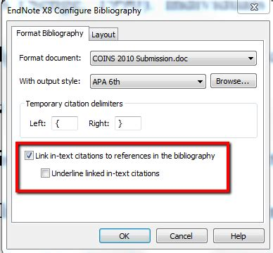 Txt Links by Hyperlink Citations In A Bibliography Endnote Library