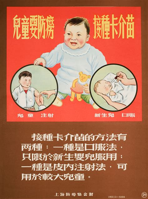 A Series Of Anti Tuberculosis Posters From Shanghai Anti