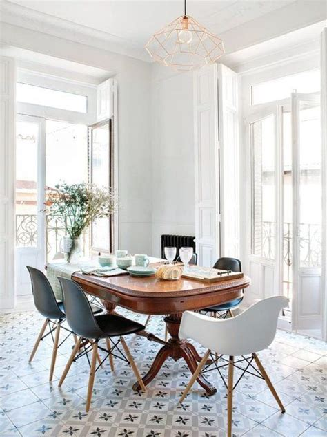 look we traditional table modern chairs apartment