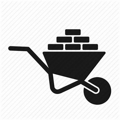 Construction Material Tools Brick Engineer Icon Wheelbarrow