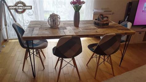 fabriquer une table de fabriquer table salon bois de seconde vie