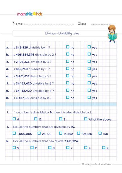 grade math division worksheets