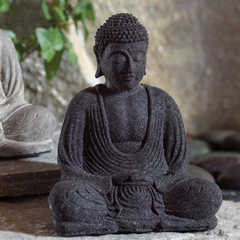 black volcanic stone buddha statue dharmacrafts