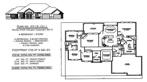 house plans with large kitchen 1 house plans with 4 bedrooms one house plans