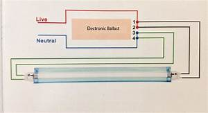 F96t12 Electronic Ballast Wiring Diagram Fluorescent Light  Electronic Ballast Circuit For
