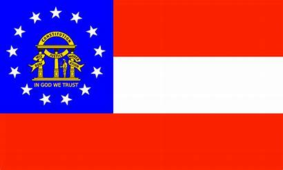 Georgia Flag State Flags Clip Vector Records