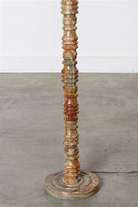 marble onyx floor lamp at 1stdibs With antique floor lamp with onyx base