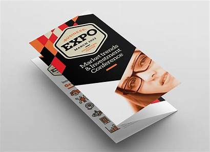 Fold Tri Brochure Business Template Expo Trifold