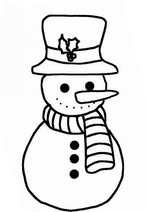 snowman coloring page simple snowman coloring page getcoloringpages