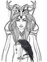 Coloring Pages Horror Adults Adult Halloween Woman Dead Colouring Books Sugar Deer Fairy Printable Skull Tattoo Fantasy sketch template