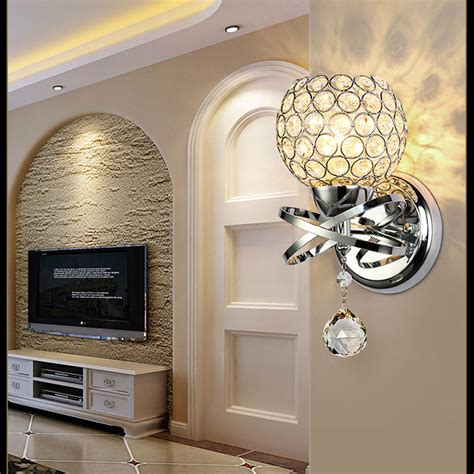 modern led wall light mirror front l wall sconce home bling lighting ebay