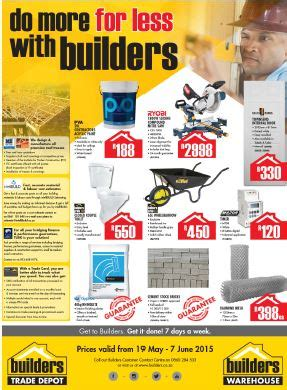 builders warehouse specials catalogues