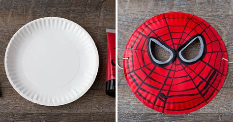 paper plate spider man mask