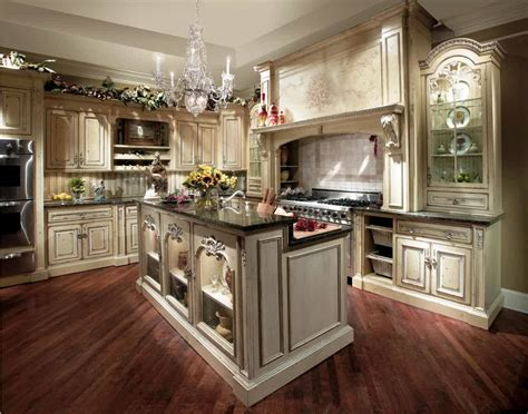 Western Style Antique French Country Kitchen Decorating