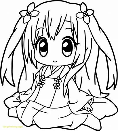Coloring Pages Pretty Anime Popular