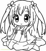 Coloring Pages Pretty Cute Anime Popular sketch template
