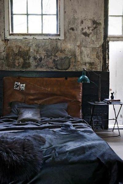 dark moody spaces industrial bedroom design