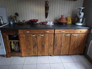 Meubles cuisine bois meuble bas de cuisine avec vier en for Idee deco cuisine avec fabricant de meuble