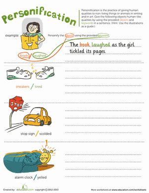 personification worksheet educationcom
