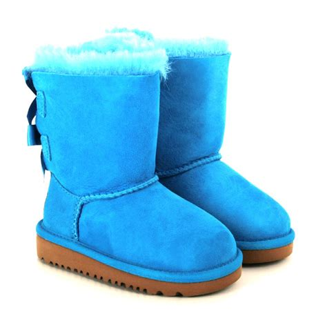 light blue uggs with bows ugg 174 bailey bow ugg 174 blue boot