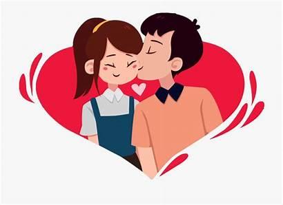 Couple Clipart Valentines Romantic Cartoon Cupl Clip