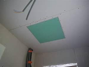 Trappe Visite Placo : placo notre maison ossature bois ~ Premium-room.com Idées de Décoration