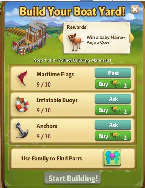 Boat Club Races Farmville Country Escape by Build Your Boat Yard