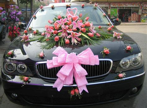 car wedding decorations romantic decoration