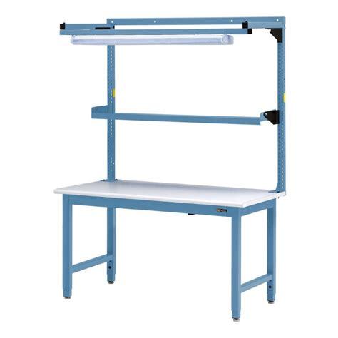 Iac Steel Workbench W Overhead Light & Utility Shelf 30