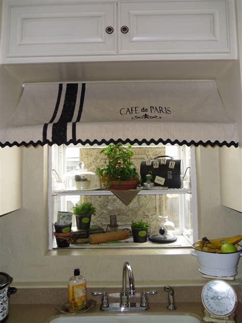 cafe de paris awning curtain     garden window crafting  creating pinterest