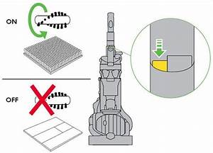 Diagram Showing How To Turn The Brushbar On And Off