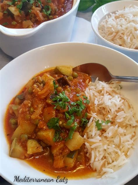 vegetarian lebanese moussaka eggplant stew