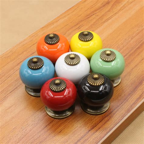 ceramic knobs for kitchen cabinets lots vintage retro ceramic drawer cupboard door kitchen 8094