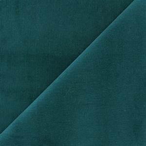 Tissu Velours Bleu Canard : tissu velours milleraies melda 200gr ml bleu canard x10cm ma petite mercerie ~ Teatrodelosmanantiales.com Idées de Décoration