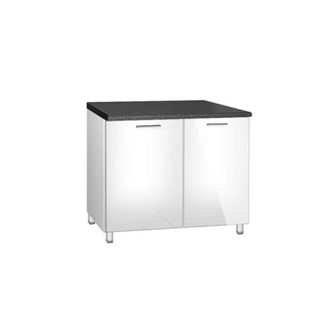 meuble de cuisine 120 cm meuble de cuisine bas sous evier de 120 cm tara avec pieds