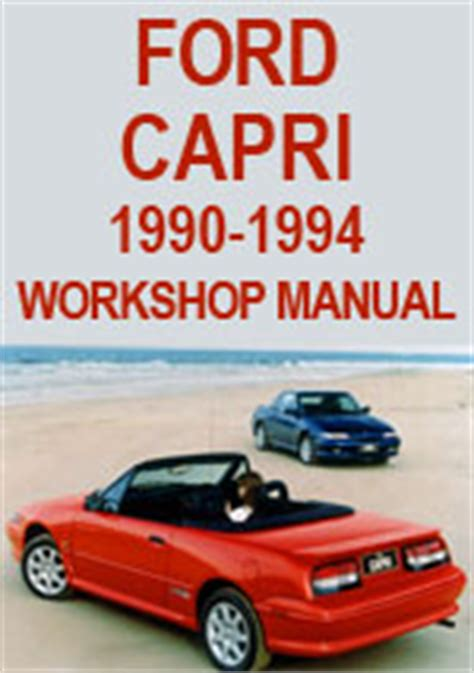 car repair manuals online pdf 1991 mercury capri engine control ford capri convertible 1990 1994 service manual