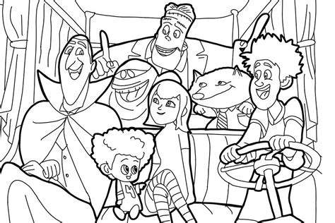 Coloring Pages by Hotel Transylvania Coloring Pages Best Coloring Pages
