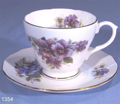 Duchess Violas Vintage Bone China Tea Cup and Saucer ? SOLD: Collectable China