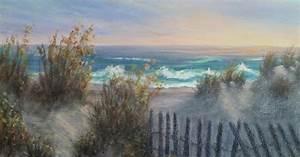 sand dunes coastal painting