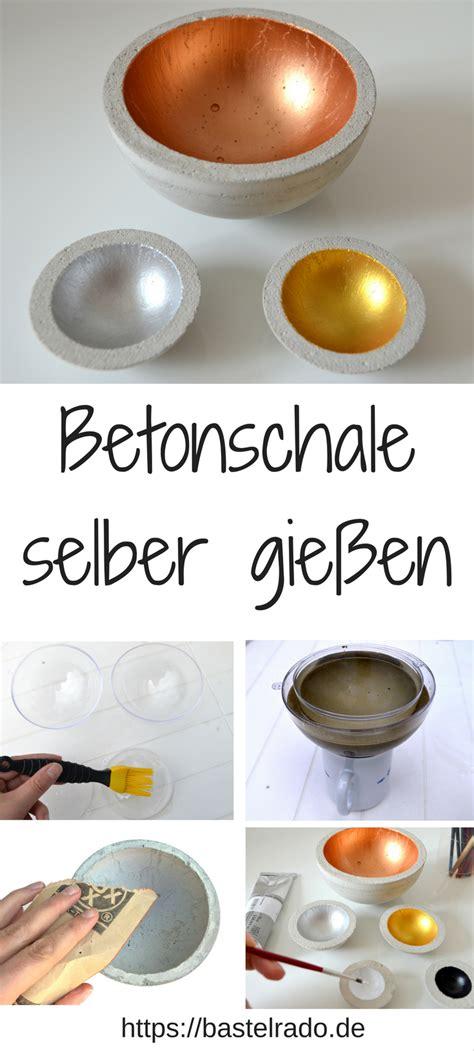 Betonschalen Selber Machen Anleitung by Betonschale Selber Gie 223 En So Einfach Geht S Diy Diy