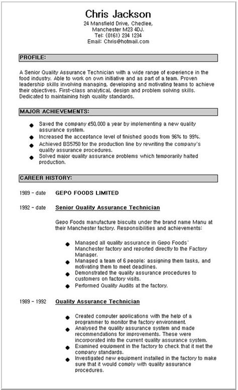 biology research technician resume sle 28 images claim
