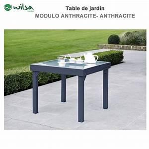 Table De Jardin 8 Places : table de jardin modulo 4 8 places grise ~ Teatrodelosmanantiales.com Idées de Décoration